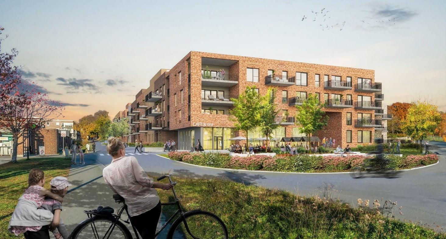 Skanskas nye forslag til boligblokker ved Lade gård